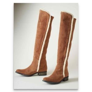 SUNDANCE Fleece Sandrine Suede Boots 6